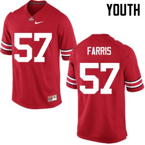Youth Ohio State Buckeyes #57 Chase Farris Red College Football Jerseys 708272-720