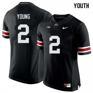 Youth Ohio State Buckeyes #2 Chase Young Black College Football Jerseys 812195-151