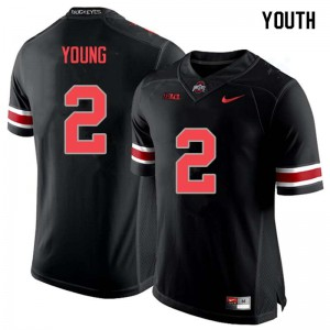 Youth Ohio State Buckeyes #2 Chase Young Blackout College Football Jerseys 660754-946