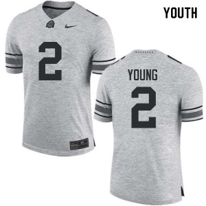 Youth Ohio State Buckeyes #2 Chase Young Gray College Football Jerseys 501057-150