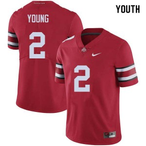 Youth Ohio State Buckeyes #2 Chase Young Red College Football Jerseys 966701-579