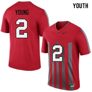 Youth Ohio State Buckeyes #2 Chase Young Throwback College Football Jerseys 143773-637