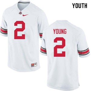Youth Ohio State Buckeyes #2 Chase Young White College Football Jerseys 505821-128