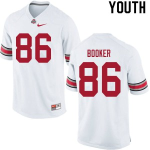 Youth Ohio State Buckeyes #86 Chris Booker White College Football Jerseys 125817-433