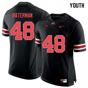 Youth Ohio State Buckeyes #48 Clay Raterman Blackout College Football Jerseys 881961-891