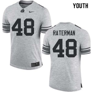 Youth Ohio State Buckeyes #48 Clay Raterman Gray College Football Jerseys 975746-830