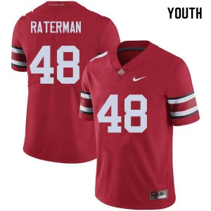 Youth Ohio State Buckeyes #48 Clay Raterman Red College Football Jerseys 232389-876