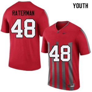 Youth Ohio State Buckeyes #48 Clay Raterman Throwback College Football Jerseys 780030-741