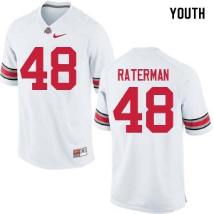 Youth Ohio State Buckeyes #48 Clay Raterman White College Football Jerseys 336047-666