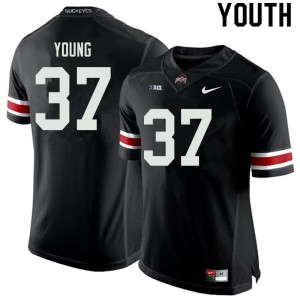 Youth Ohio State Buckeyes #37 Craig Young Black College Football Jerseys 952054-635