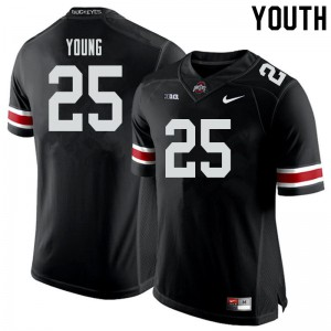 Youth Ohio State Buckeyes #25 Craig Young Black College Football Jerseys 676621-764