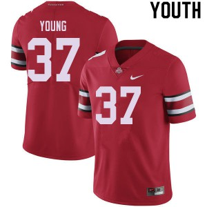 Youth Ohio State Buckeyes #37 Craig Young Red College Football Jerseys 148959-732