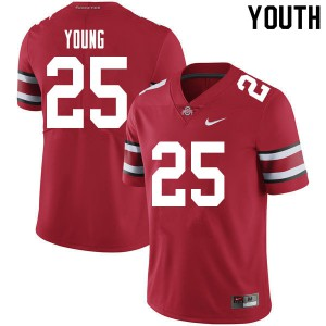 Youth Ohio State Buckeyes #25 Craig Young Red College Football Jerseys 963311-326