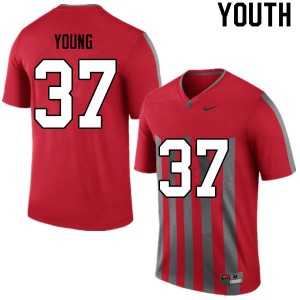 Youth Ohio State Buckeyes #37 Craig Young Retro College Football Jerseys 149488-180
