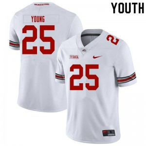 Youth Ohio State Buckeyes #25 Craig Young White College Football Jerseys 724150-688