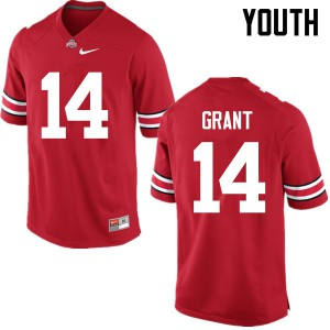 Youth Ohio State Buckeyes #14 Curtis Grant Red College Football Jerseys 197450-946