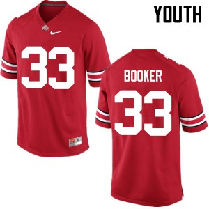 Youth Ohio State Buckeyes #33 Dante Booker Red College Football Jerseys 291553-677