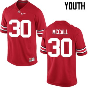 Youth Ohio State Buckeyes #30 Demario McCall Red College Football Jerseys 896141-711