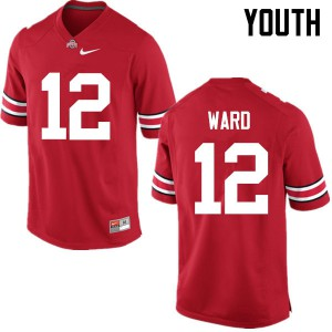 Youth Ohio State Buckeyes #12 Denzel Ward Red College Football Jerseys 633204-497