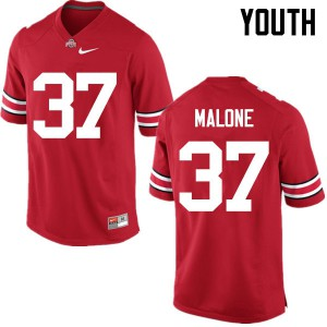Youth Ohio State Buckeyes #37 Derrick Malone Red College Football Jerseys 469928-711