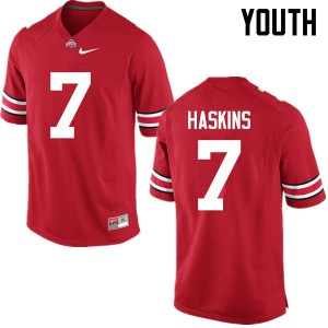 Youth Ohio State Buckeyes #7 Dwayne Haskins Red College Football Jerseys 426790-344