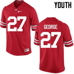 Youth Ohio State Buckeyes #27 Eddie George Red College Football Jerseys 453279-720