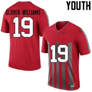 Youth Ohio State Buckeyes #19 Eric Glover-Williams Throwback College Football Jerseys 560268-154