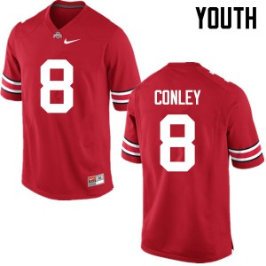 Youth Ohio State Buckeyes #8 Gareon Conley Red College Football Jerseys 934642-322