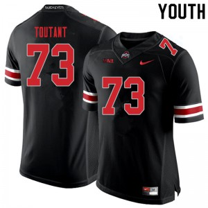 Youth Ohio State Buckeyes #73 Grant Toutant Blackout College Football Jerseys 199780-801