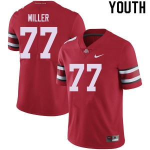 Youth Ohio State Buckeyes #77 Harry Miller Red College Football Jerseys 986184-982