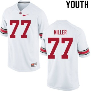 Youth Ohio State Buckeyes #77 Harry Miller White College Football Jerseys 564375-580