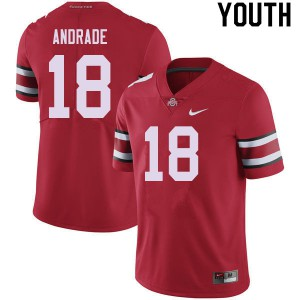 Youth Ohio State Buckeyes #18 J.P. Andrade Red College Football Jerseys 733161-545