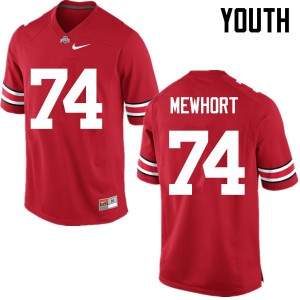Youth Ohio State Buckeyes #74 Jack Mewhort Red College Football Jerseys 629445-528