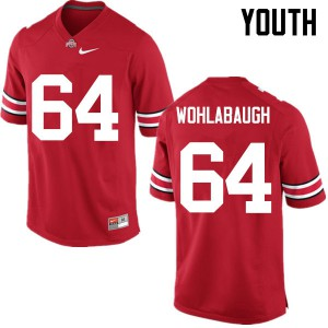 Youth Ohio State Buckeyes #64 Jack Wohlabaugh Red College Football Jerseys 163945-790