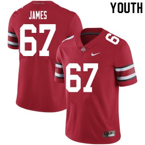 Youth Ohio State Buckeyes #67 Jakob James Red College Football Jerseys 302544-705