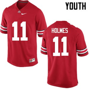 Youth Ohio State Buckeyes #11 Jalyn Holmes Red College Football Jerseys 438128-132