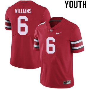 Youth Ohio State Buckeyes #6 Jameson Williams Red College Football Jerseys 584428-119