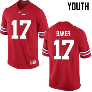Youth Ohio State Buckeyes #17 Jerome Baker Red College Football Jerseys 998254-547