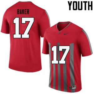 Youth Ohio State Buckeyes #17 Jerome Baker Throwback College Football Jerseys 368592-132