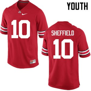 Youth Ohio State Buckeyes #10 Kendall Sheffield Red College Football Jerseys 194026-642