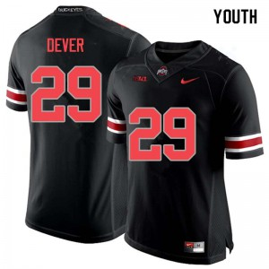 Youth Ohio State Buckeyes #29 Kevin Dever Blackout College Football Jerseys 562049-898