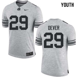 Youth Ohio State Buckeyes #29 Kevin Dever Gray College Football Jerseys 373641-120