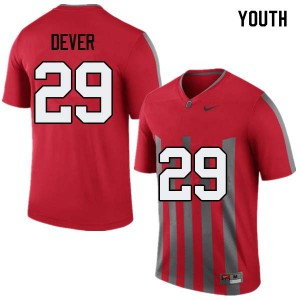 Youth Ohio State Buckeyes #29 Kevin Dever Throwback College Football Jerseys 739517-133