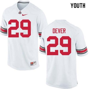 Youth Ohio State Buckeyes #29 Kevin Dever White College Football Jerseys 818073-843