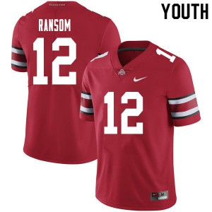 Youth Ohio State Buckeyes #12 Lathan Ransom Red College Football Jerseys 278609-642