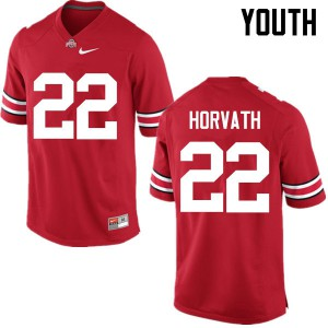 Youth Ohio State Buckeyes #22 Les Horvath Red College Football Jerseys 903481-333