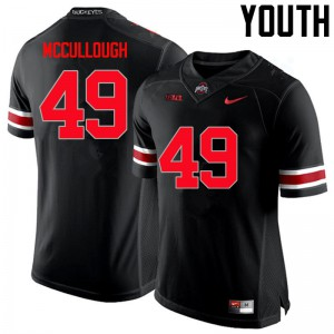 Youth Ohio State Buckeyes #49 Liam McCullough Black College Football Jerseys 897389-735
