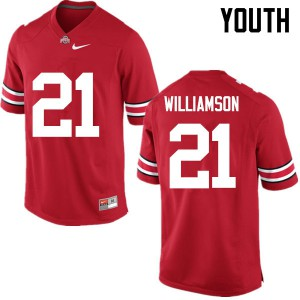 Youth Ohio State Buckeyes #21 Marcus Williamson Red College Football Jerseys 141853-919