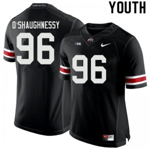 Youth Ohio State Buckeyes #96 Michael O'Shaughnessy Black College Football Jerseys 185135-241