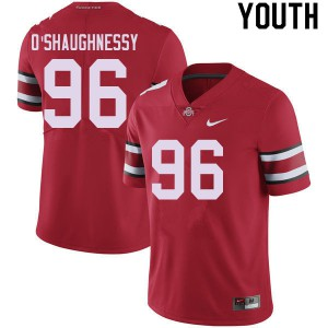 Youth Ohio State Buckeyes #96 Michael O'Shaughnessy Red College Football Jerseys 714093-821